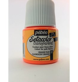 PEBEO SETACOLOR TRANSPARENT FLUORESCENT ORANGE 45ML