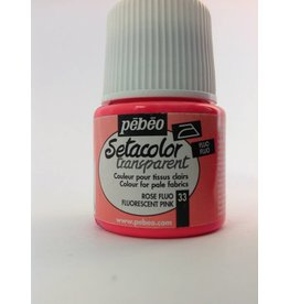 PEBEO SETACOLOR TRANSPARENT FLUORESCENT PINK 45ML