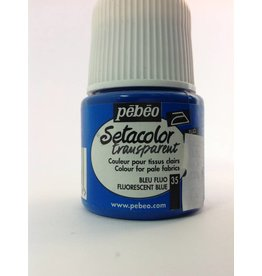 PEBEO SETACOLOR TRANSPARENT FLUORESCENT BLUE 45ML