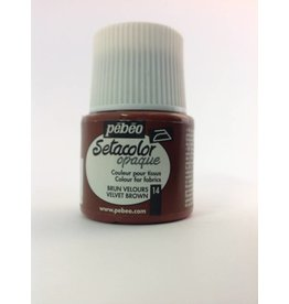 PEBEO SETACOLOR OPAQUE VELVET BROWN 45ML