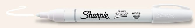 SANFORD SHARPIE PAINT MARKER OIL BASED MEDIUM WHITE