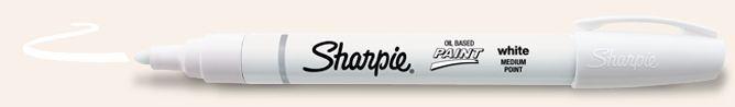 SANFORD SHARPIE PAINT MARKER OIL BASED MEDIUM WHITE