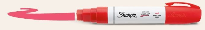 SANFORD SHARPIE POSTER PAINT MARKER EXTRA BOLD RED