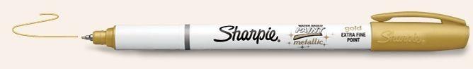 SANFORD SHARPIE POSTER PAINT MARKER EXTRA FINE METALLIC GOLD