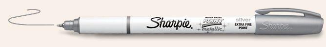 SANFORD SHARPIE POSTER PAINT MARKER EXTRA FINE METALLIC SILVER