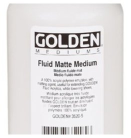 GOLDEN GOLDEN FLUID MATTE MEDIUM 8OZ