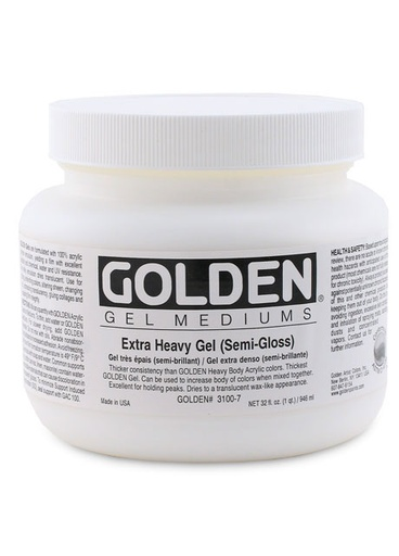 GOLDEN GOLDEN EXTRA HEAVY GEL SEMI-GLOSS 128OZ