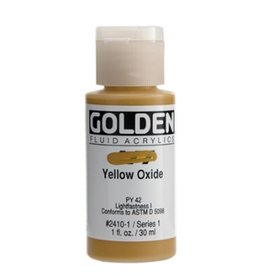 GOLDEN GOLDEN FLUID ACRYLIC YELLOW OXIDE 1OZ