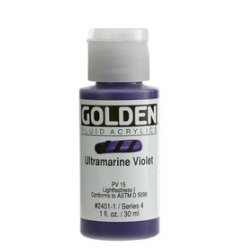 GOLDEN GOLDEN FLUID ACRYLIC ULTRAMARINE VIOLET 1OZ