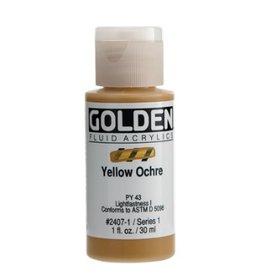 GOLDEN GOLDEN FLUID ACRYLIC YELLOW OCHRE 1OZ