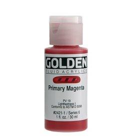 GOLDEN GOLDEN FLUID ACRYLIC PRIMARY MAGENTA 1OZ