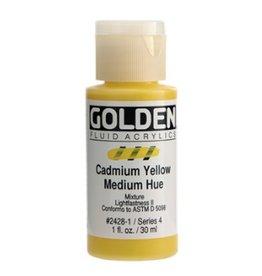 GOLDEN GOLDEN FLUID ACRYLIC CADMIUM YELLOW MEDIUM HUE 1OZ