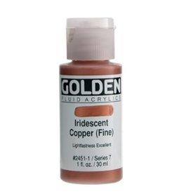 GOLDEN GOLDEN FLUID ACRYLIC IRIDESCENT COPPER (FINE) 1OZ