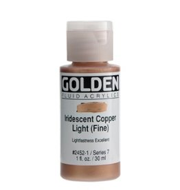 GOLDEN GOLDEN FLUID ACRYLIC IRIDESCENT COPPER LIGHT (FINE) 1OZ
