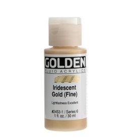 GOLDEN GOLDEN FLUID ACRYLIC IRIDESCENT GOLD (FINE) 1OZ