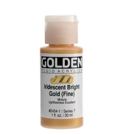GOLDEN GOLDEN FLUID ACRYLIC IRIDESCENT BRIGHT GOLD (FINE) 1OZ