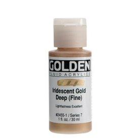GOLDEN GOLDEN FLUID ACRYLIC IRIDESCENT GOLD DEEP (FINE) 1OZ