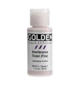 GOLDEN GOLDEN FLUID ACRYLIC INTERFERENCE VIOLET (FINE) 1OZ