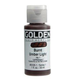 GOLDEN GOLDEN FLUID ACRYLIC BURNT UMBER LIGHT 1OZ