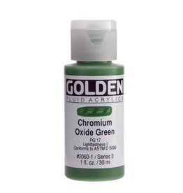 GOLDEN GOLDEN FLUID ACRYLIC CHROMIUM OXIDE GREEN 1OZ