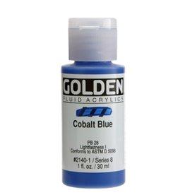 GOLDEN GOLDEN FLUID ACRYLIC COBALT BLUE 1OZ