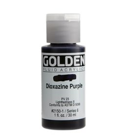 GOLDEN GOLDEN FLUID ACRYLIC DIOXAZINE PURPLE 1OZ
