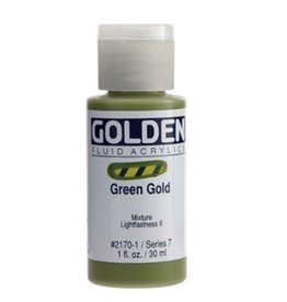 GOLDEN GOLDEN FLUID ACRYLIC GREEN GOLD 1OZ