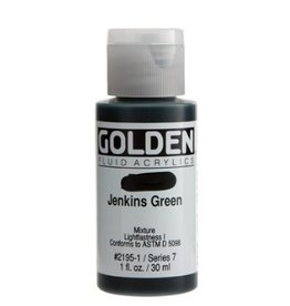 GOLDEN GOLDEN FLUID ACRYLIC JENKINS GREEN 1OZ