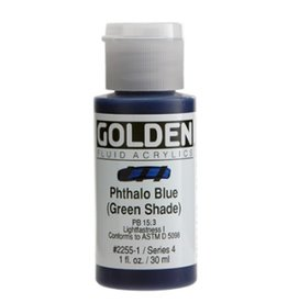 GOLDEN GOLDEN FLUID ACRYLIC PHTHALO BLUE (GREEN SHADE) 1OZ