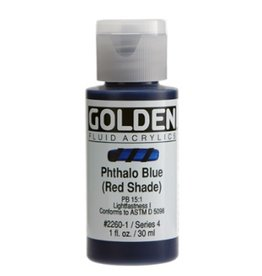 GOLDEN GOLDEN FLUID ACRYLIC PHTHALO BLUE (RED SHADE) 1OZ