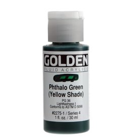 GOLDEN GOLDEN FLUID ACRYLIC PHTHALO GREEN (YELLOW SHADE) 1OZ