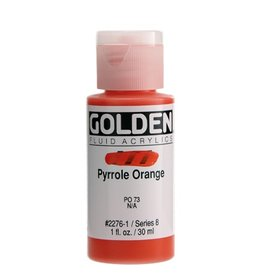 GOLDEN GOLDEN FLUID ACRYLIC PYRROLE ORANGE 1OZ