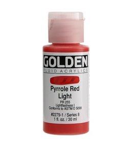 GOLDEN GOLDEN FLUID ACRYLIC PYRROLE RED LIGHT 1OZ
