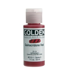 GOLDEN GOLDEN FLUID ACRYLIC QUINACRIDONE RED 1OZ