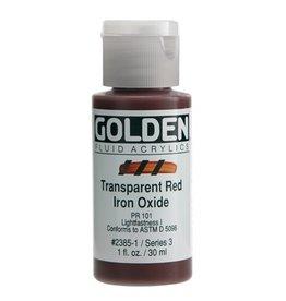 GOLDEN GOLDEN FLUID ACRYLIC TRANSPARENT RED IRON OXIDE 1OZ