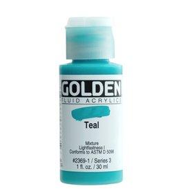 GOLDEN GOLDEN FLUID ACRYLIC TEAL 1OZ