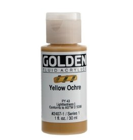GOLDEN GOLDEN FLUID ACRYLIC YELLOW OCHRE 4OZ