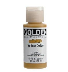 GOLDEN GOLDEN FLUID ACRYLIC YELLOW OXIDE 4OZ