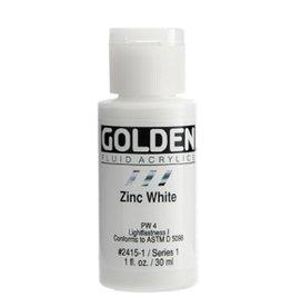 GOLDEN GOLDEN FLUID ACRYLIC ZINC WHITE 4OZ