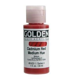GOLDEN GOLDEN FLUID ACRYLIC CADMIUM RED MEDIUM HUE 4OZ