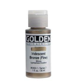 GOLDEN GOLDEN FLUID ACRYLIC IRIDESCENT BRONZE (FINE) 4OZ