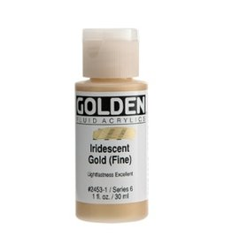 GOLDEN GOLDEN FLUID ACRYLIC IRIDESCENT GOLD (FINE) 4OZ