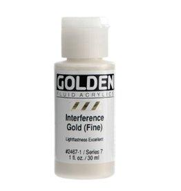GOLDEN GOLDEN FLUID ACRYLIC INTERFERENCE GOLD (FINE) 4OZ