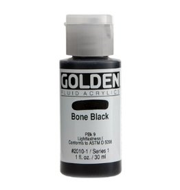 GOLDEN GOLDEN FLUID ACRYLIC BONE BLACK 4OZ