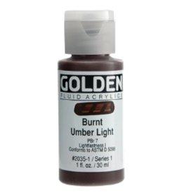 GOLDEN GOLDEN FLUID ACRYLIC BURNT UMBER LIGHT 4OZ