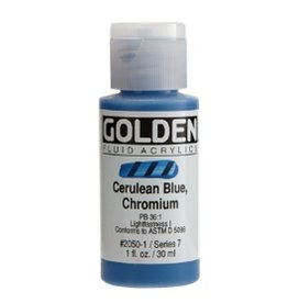 GOLDEN GOLDEN FLUID ACRYLIC CERULEAN BLUE CHROMIUM 4OZ
