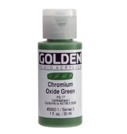 GOLDEN GOLDEN FLUID ACRYLIC CHROMIUM OXIDE GREEN 4OZ
