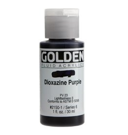 GOLDEN GOLDEN FLUID ACRYLIC DIOXAZINE PURPLE 4OZ