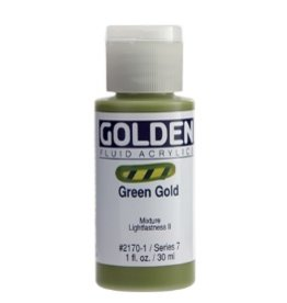 GOLDEN GOLDEN FLUID ACRYLIC GREEN GOLD 4OZ
