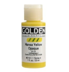 GOLDEN GOLDEN FLUID ACRYLIC HANSA YELLOW OPAQUE 4OZ